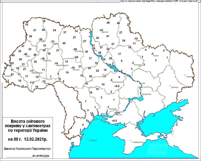 Негода в Україні: висота снігових заметів сягає більше метра (КАРТА)