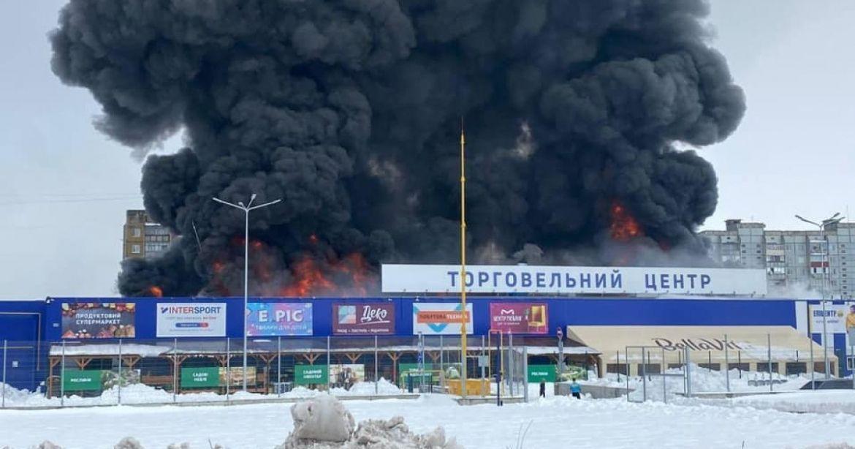 Подробиці підпалу гіпермаркету «Епіцентр» в Первомайську (ФОТО)
